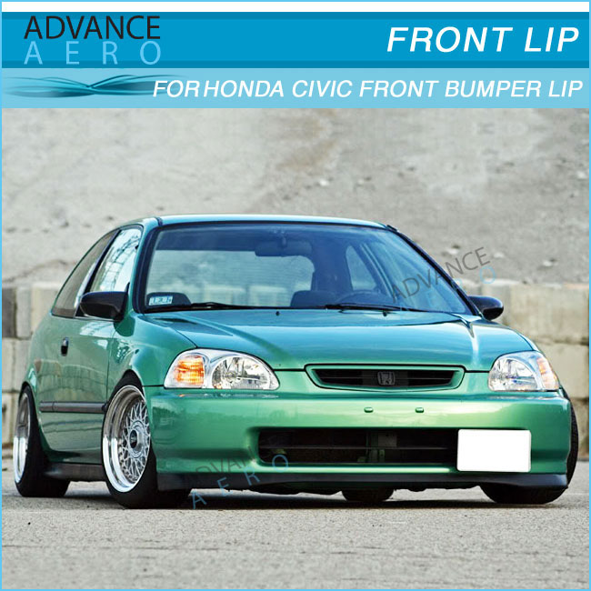For 1996 1998 Honda Civic 234dr Sir Style Pu Front Bumper Lip