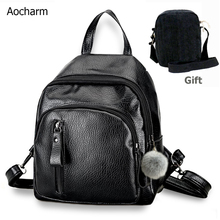 Aocharm Shoulder Backpack Women For Girl Travel Anti Theft Bag Female Retractable Strap