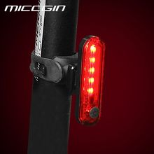 Bike Taillight Cycling Rear Light Seatpost Light Lantern USB Rechargeable Waterproof Lamp Bicycle Cycling Light(China)