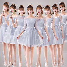 Lace applique  Dinner Bridesmaids bowknot Dresses Party Short Formal Dress elegant Net yarn Party Gowns цены онлайн