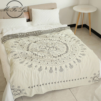Mandala Cotton Gauze Towel Cloth Japanese Aircondition Summer Quilt Knitted Blankets for Beds Plaids Bed Cover cobijas para cama