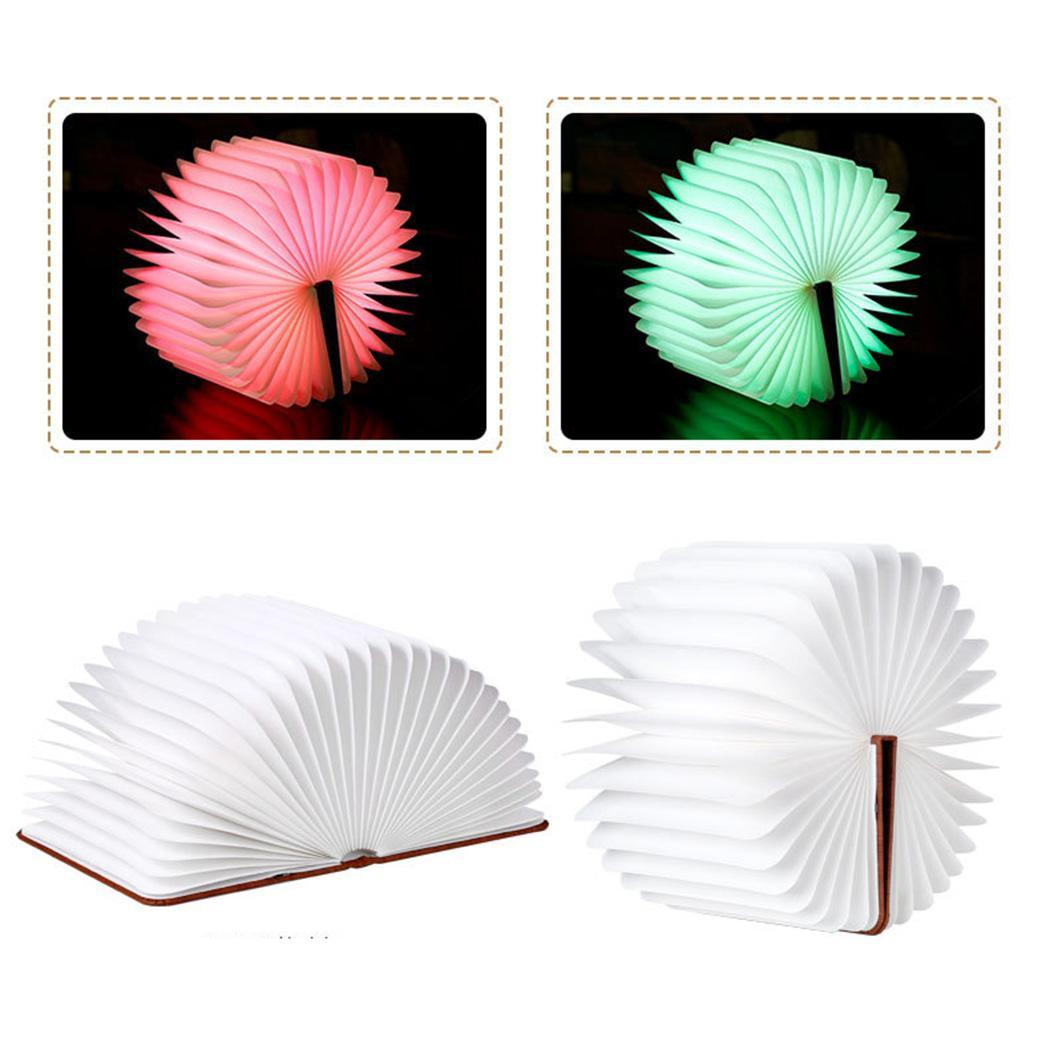 LED Book Light PU Leather Cover USB 2W Rechargeable 350 lumens Nightlight 3.7V Foldable Desk 2000mAh Lamp