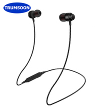 Trumsoon Sport Bluetooth Earphones Magnetic Wireless Stereo Earbuds In-ear Waterproof Earphone with Mic for Smart Phones