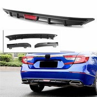 Glossy Black Carbon Fiber Style Rear Bumper Lip Spoiler Wing For Honda Accord 10th 2018 2019 3PCS