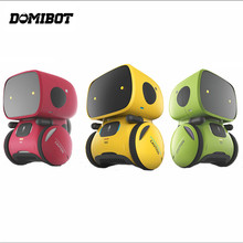 Domibot APOLLO Green/Yellow/Red Smart RC Robot Voice Control Click Sensitive Voice Record Mode Walking Robot Children Toys Gift(China)