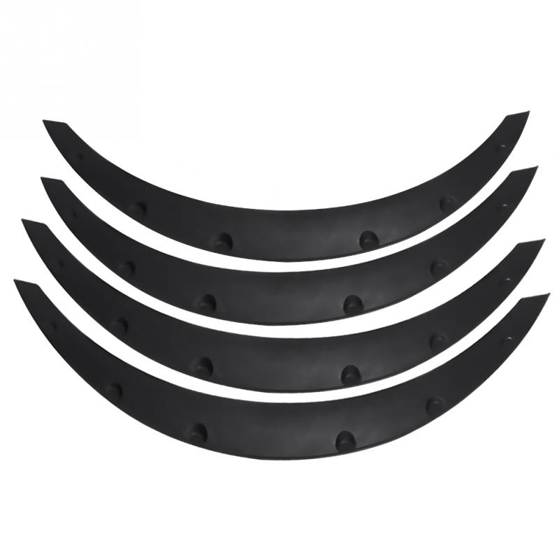 4pcs Auto Mudguards Flares Arches Wheel Eyebrow Protector Car SUV Offroad Universal Accessories High Quality PP Plastic Black