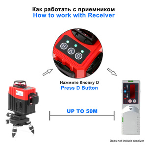 Image 4 - KaiTian 12Lines 3D Laser Level Self Leveling 360 Degre Horizontal Vertical Cross Powerful Level Laser Tool With Outdoor Detector