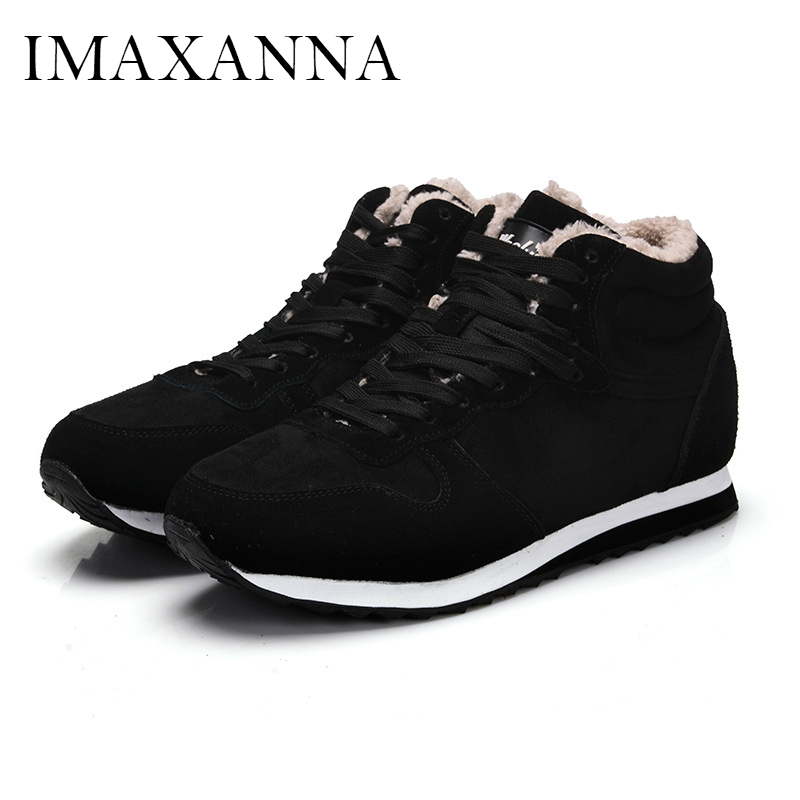 IMAXANNA New Sneakers Woman Men Sports 2019 Velour Lace Up Run Shoes Keep Warm Couple Shoes Woman Flat Shoe High Top Plus SizeIMAXANNA New Sneakers Woman Men Sports 2019 Velour Lace Up Run Shoes Keep Warm Couple Shoes Woman Flat Shoe High Top Plus Size