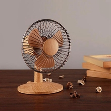 New Hot Portable small desktop 3 blade cooling fan old-fashioned laptop dual-speed adjustment antique mini shaking hea