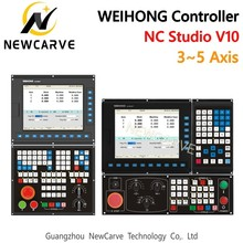 WEIHONG Nc Studio V10 Controller CNC Router 3-axis 4-axis 5-axis Linkage Integrated Control Card NK300CX-H/HM/V/VM NEWCARVE все цены