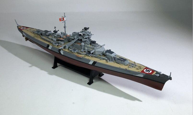World War II Alloy Simulation Warship Bismarck Battleship 1:1000 Plastic Static Model Finished Toy Collection Gift Free Shipping стоимость