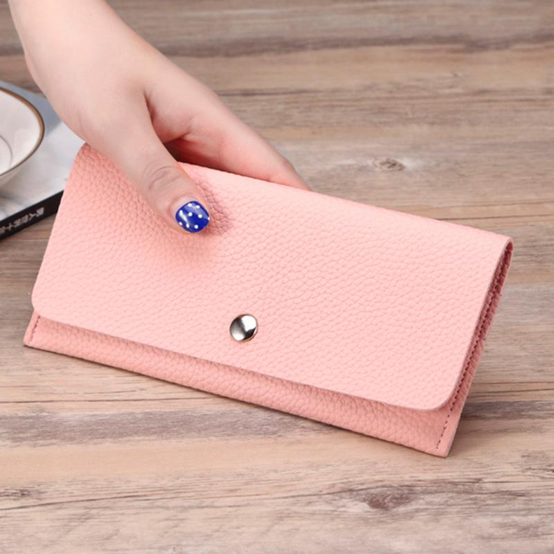 Girl Wallet Slim PU Leather Wallet Women Clutch Bag Lady Phone Cards Holder Candy Color Small Handbag Purse Wallet 1