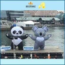 8-метра Ткань Оксфорд Надувные панда для продажи, надувные панда мультфильм, надувные арки для рекламной кампании дисплей e