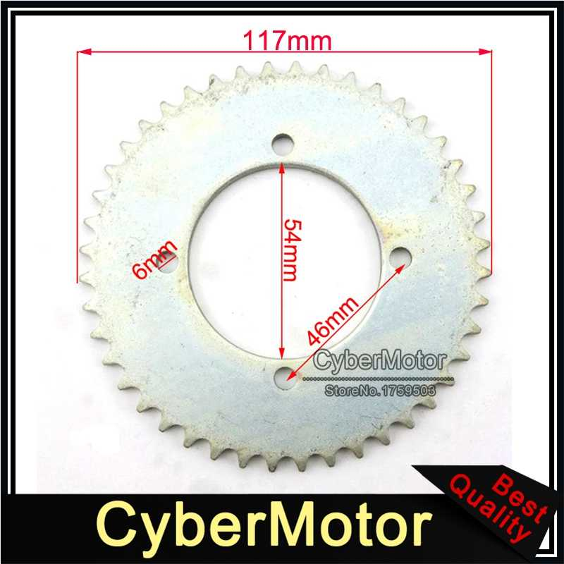 54mm 44 Tooth T8F Rear Chain Sprocket For 2 Stroke 43cc 49cc Engine Chinese Mini Moto Kids ATV Quad Pocket Bike Goped Scooter