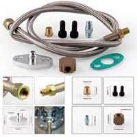 Modification Of Automotive Turbocharger Oil Circuit Kit Automotive Modification Kit T3 Turbo Fuel Supply Pipe Kit