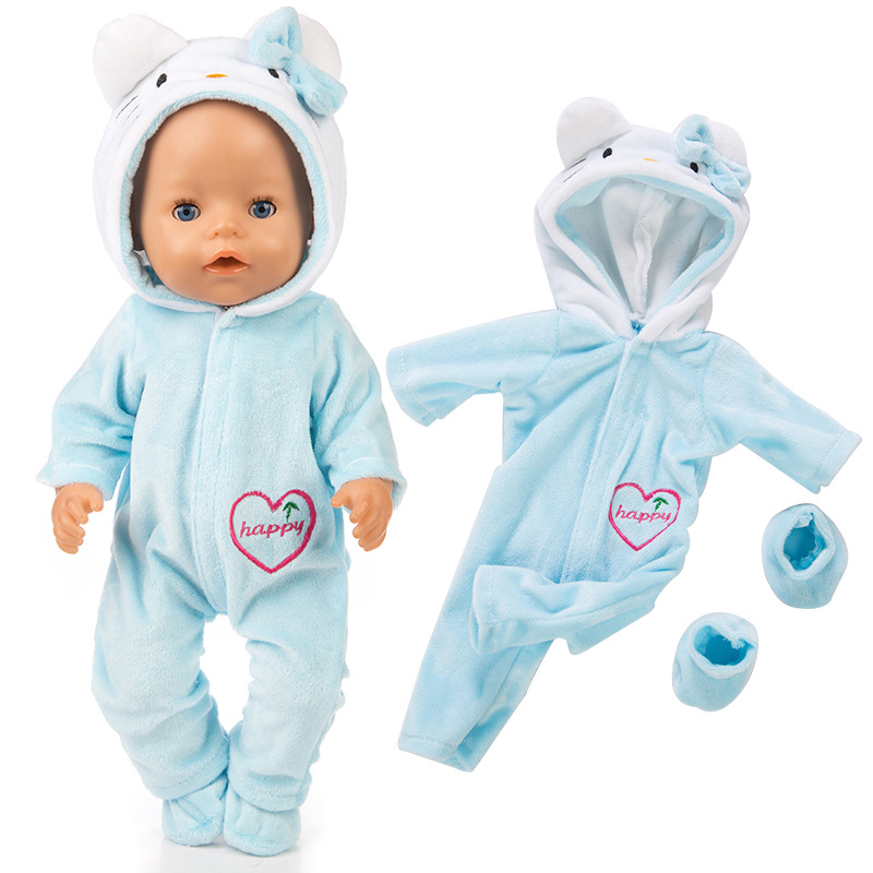 Baby Clothes 43 Cm ZAPF 18 Inch Baby Dolls Clothes For 40cm- 43cm Boy Girl Doll Bebe New Born Doll Accessory Baby Girl Gif