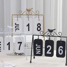 Индивидуальная Сделай Сам птица из кованого железа флип календарь украшение дома стол украшение календарь