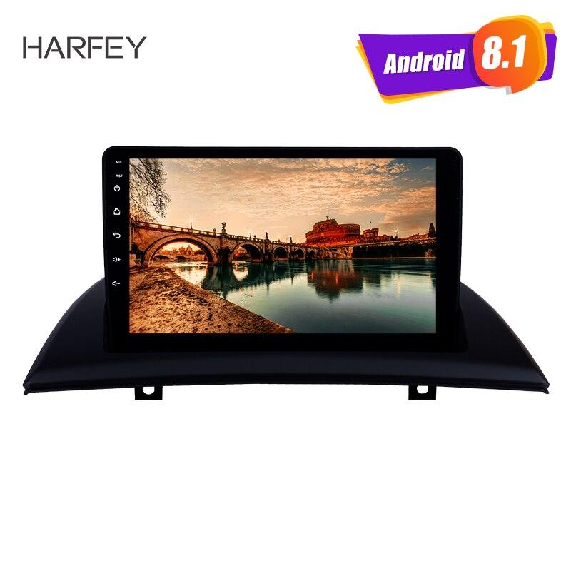 Harfey GPS Voiture Lecteur Multimédia 2din Pour 2004-2012 BMW X3 E83 2.0i 2.5i 2.5si 3.0i 3.0si 2.0d 3.0d 3.0sd Android 8.1 Avec Musique