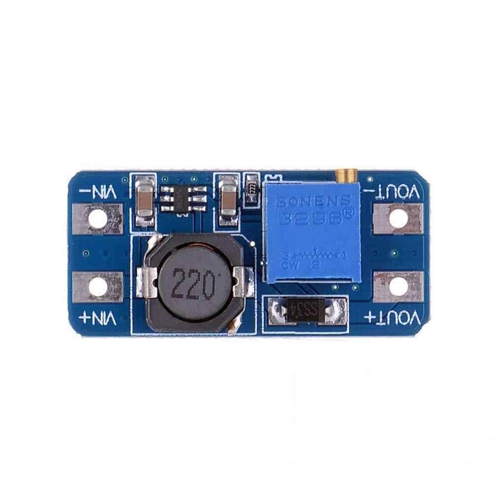 1 pces mt3608 DC-DC step up conversor impulsionador módulo de fonte de alimentação boost step-up placa de saída máxima 28v 2a para arduino