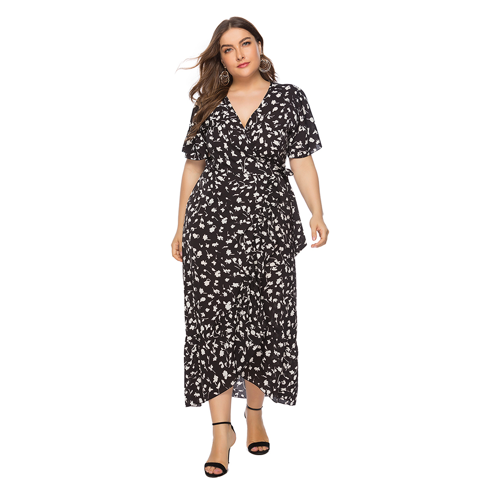 omgAmazon Plus Size Summer Dress : Wrap Maxi Dress for ...
