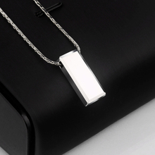 Casual/Sporty High Polished Tungsten Pendants Rectangle Shape for Men Women Can Laser Engraving Picture/ Symbols