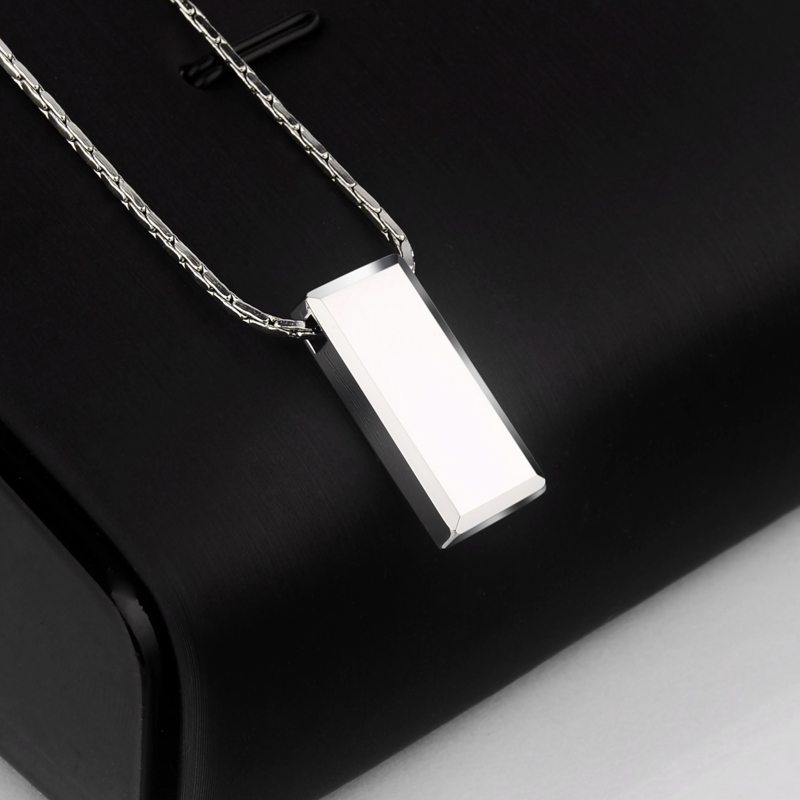 Hot Selling Casual/Sporty High Polished Tungsten Pendants Rectangle Shape for Man Woman Can Laser Engraving Picture/ Symbols-in Pendants from Jewelry & Accessories