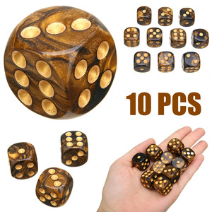 10Pcs/Set New Modern Six Sided Game Dice Mixed Colored Dice Game Playing High Quality Dice For Parties TRPG Gamer(China)