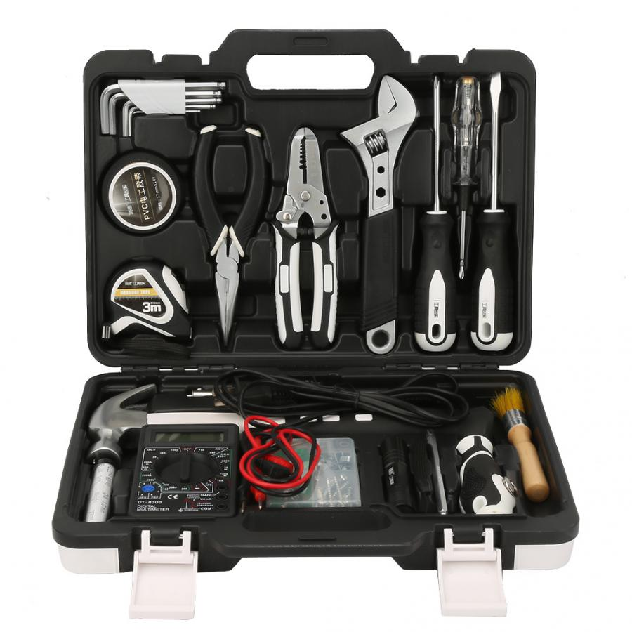 Гаечный ключ набор инструментов 61 шт. набор инструментов для дома набор инструментов для ремонта дома с мультиметром припой железный бытов...