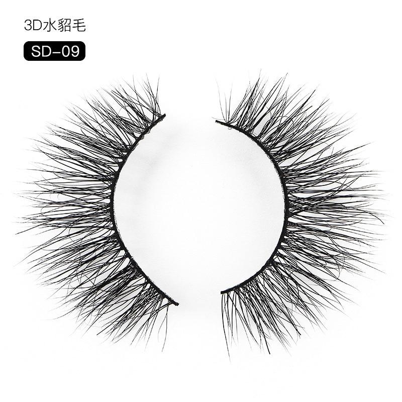 Волосы 3d накладные ресницы Европейский макияж Многоэтажный трехмерный грязный скрещивание Bobbi Фонд успокаивающий макияж для ресниц