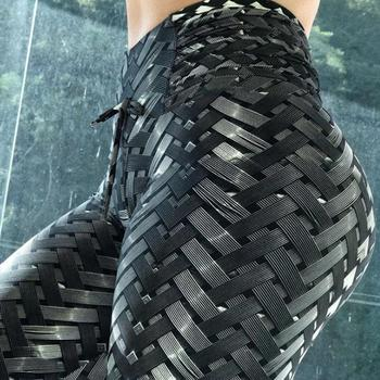 Tire Pattern Leggings Women High Waist Elastic Fashion Push Up Thin Leggings Print Workout Slim Legging Fitness Pencil Pants