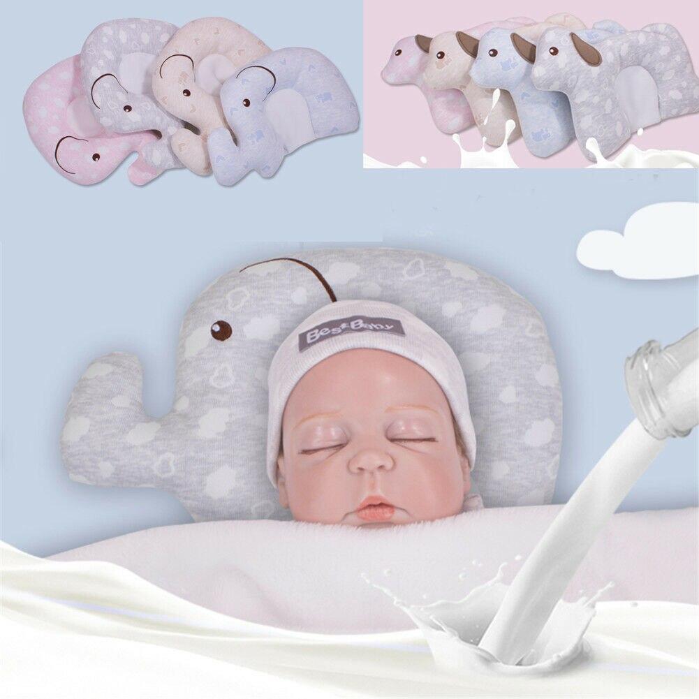US Baby Pillow Newborn Head Protection Cushion Infant Sleep Positione Anti Roll