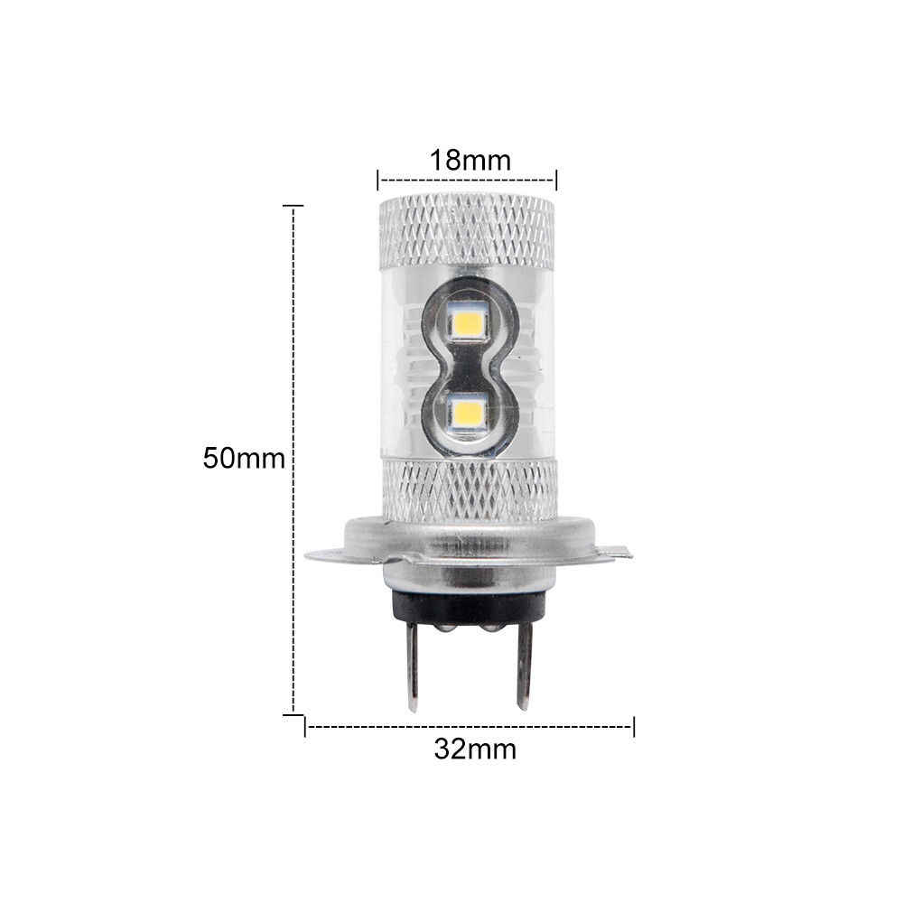 2pcs 50W H7 Super White Main Dipped Beam 499 LED Car Headlight Bulbs Lamp Foglights