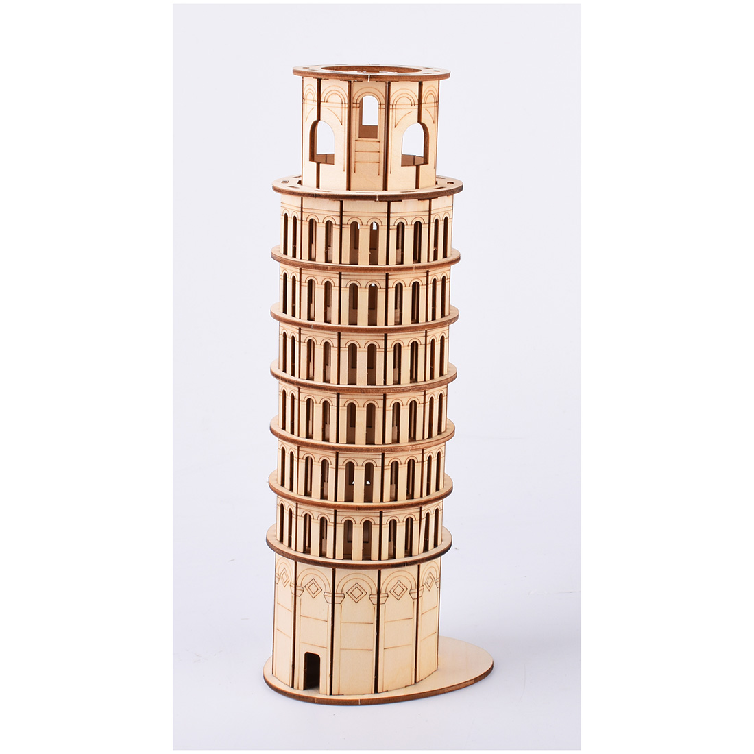 Assembly High precision Laser Cutting Puzzle 3D Wooden Craft Jigsaw Model Building Kits Leaning Tower of Pisa