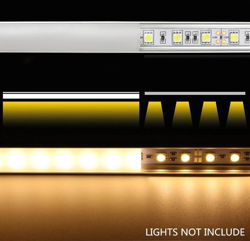 Купить с кэшбэком 2.5m/pcs   free shipping high quality slim aluminum channel with cover  for cabinet shelf and led strips