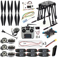 DIY Kit PIX4 Flight Control ZD850 Frame Kit M8N GPS Remote Control Radio Telemetry ESC Motor Props RC 6 Axle Drone F19833 D