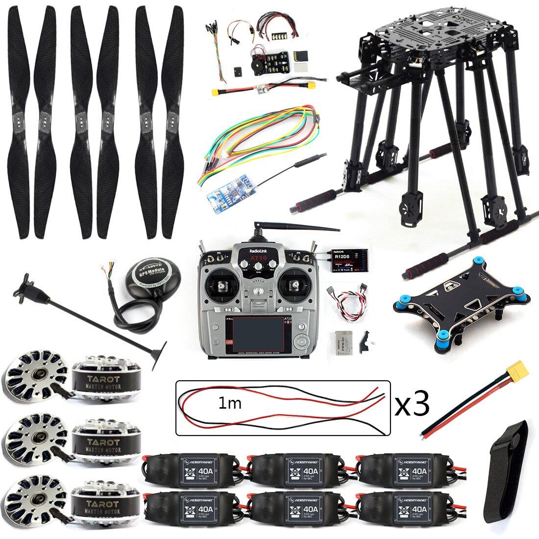 Kit de bricolage PIX4 commande de vol ZD850 Kit de cadre M8N GPS télécommande Radio télémétrie ESC moteur accessoires RC 6 essieux Drone F19833-D