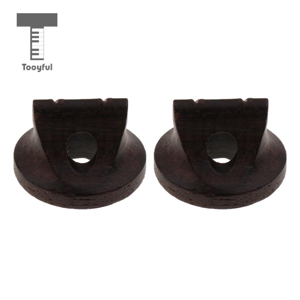 Tooyful 2pcs Ebony Erhu Bridge For String Instrument Parts Accessories