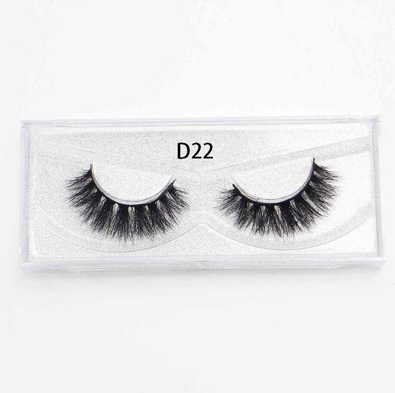 7b555eef60b D22 Lashes 3D Mink Fur Hair False Eyelashes Natural Long Volume Eyelash  Extension Individual Eyelashes Wispy Lashes