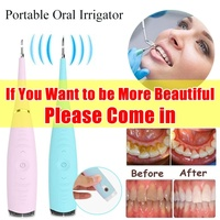 Portable Electric Sonic Dental Scaler Tooth Calculus Remover Tooth Stains Tartar Tool Dentist Whiten Teeth Health Hygiene white
