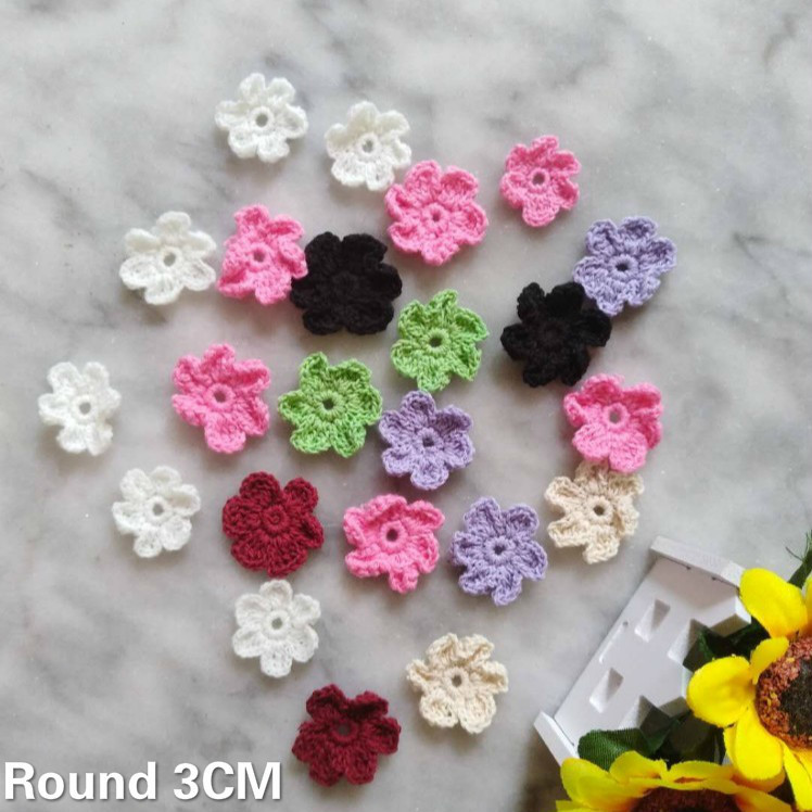White Flower Lace Cotton Collar for Sewing Craft Neckline Trimming DIY
