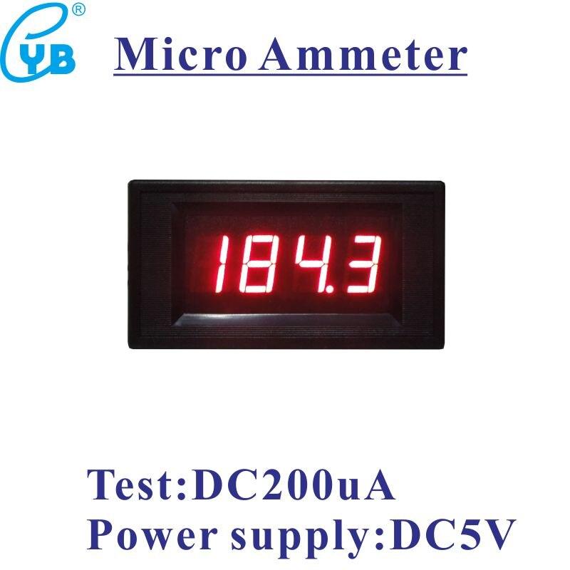 Micro Ampere Meter Dc 200ua Current Meter Led Digital