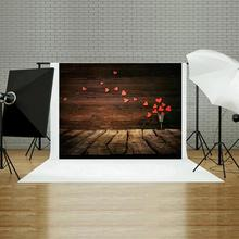 hot deal buy alloyseed photo studio romantic valentines day loveplank printed digital photography background cloth photo studio backdrops