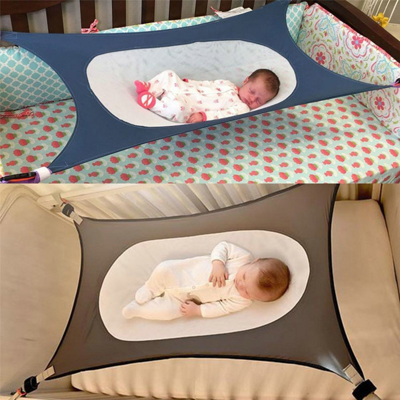 130x80CM Infants Hammock Plus Size Baby Detachable Protable Folding Crib Cotton Fabric Newborn Sleeping Bed Outdoor Garden Swing