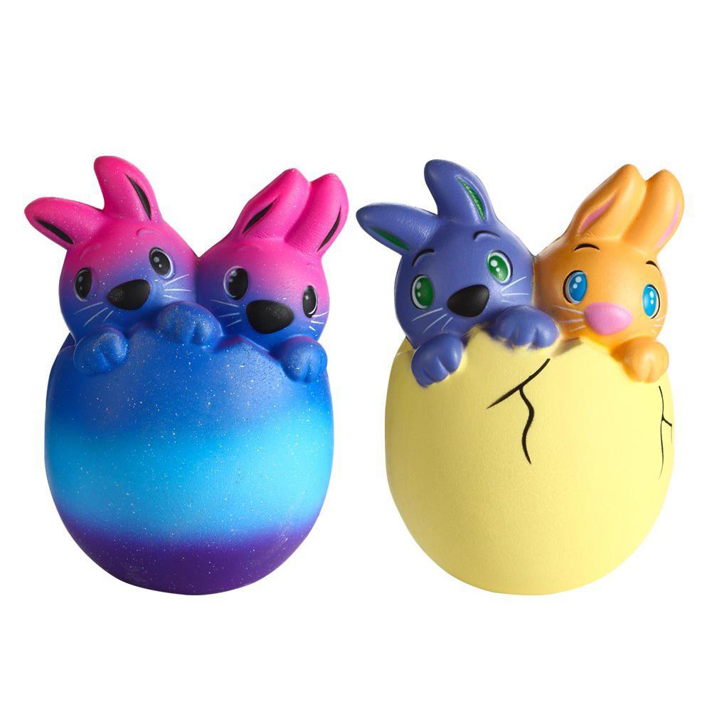 Cute Easter Bunny Simulation Cartoon Squishy Slow Rising Toys Soft Squeeze Stress Relieve Toys