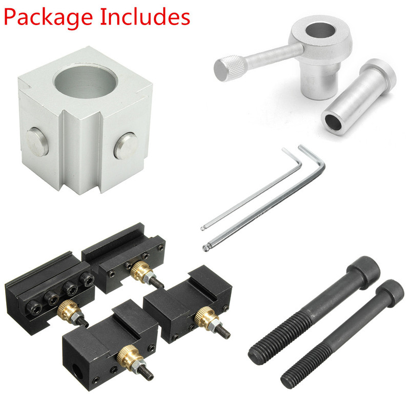 Hot Mini Aluminum Quick Change Multifid Tool Post Boring/Turning Holder Kit For Various Processing For Table Hobby Lathes