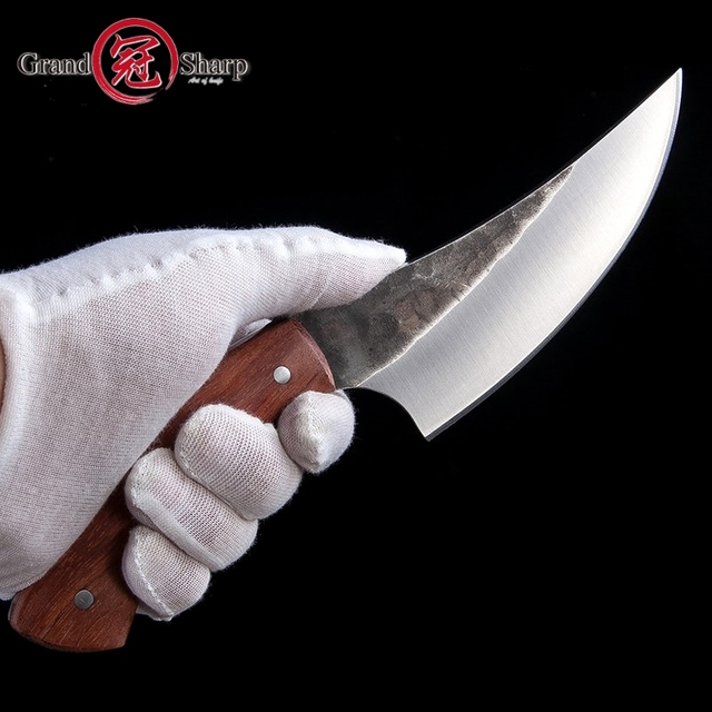 Hunting Knife High carbon Steel Handmade Boning slicing kitchen knives BBQ Camping Tactical Survival EDC Rescue Outdoor Tools 3