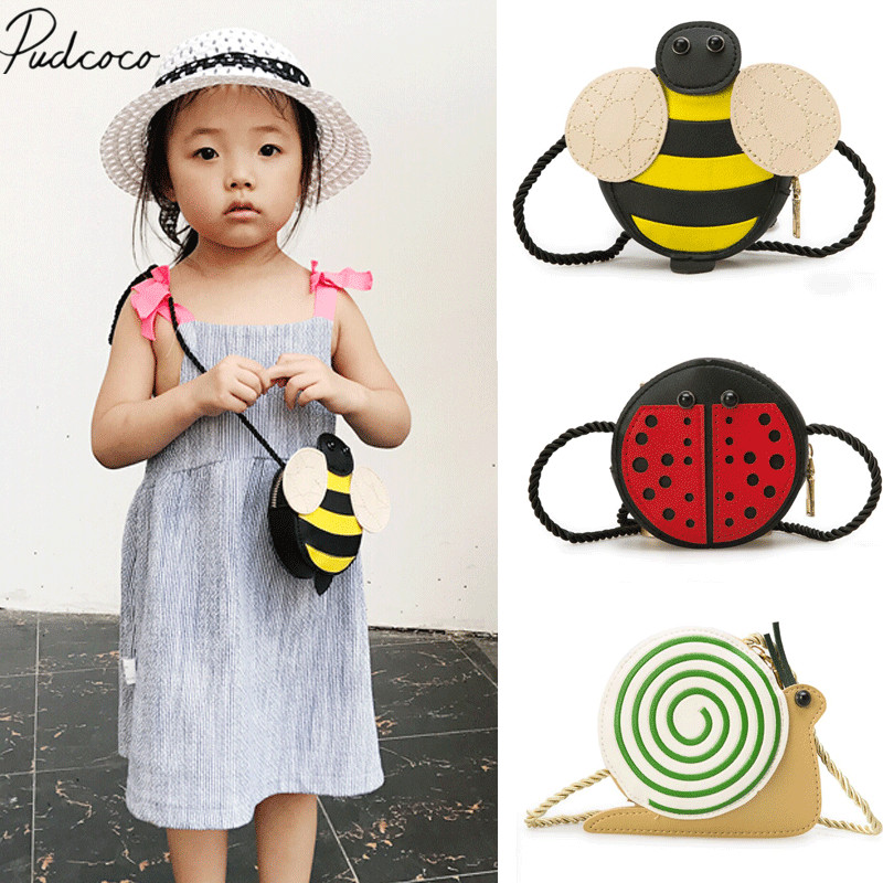 Ambitious 2018 Brand New Baby Girls Tassel Purse Handbag Children Kids Cross-body Shoulder Bag Gifts Cartoon Animals Bag Snail Ladybug Bee