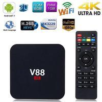 V88 4K Android 7.1 High speed Transmission Smart TV BOX RK3229 Quad Core 1.5GHZ 1GB+8GB 1080P WIFI TV Receiver Set top Box
