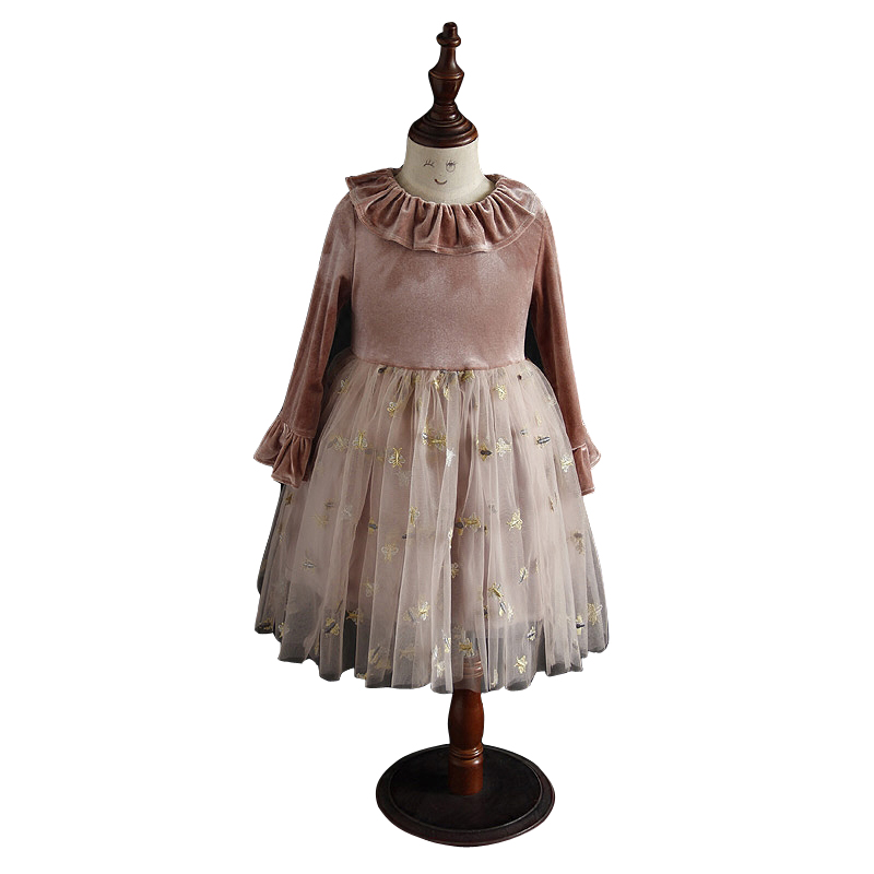 spring velvet vintage dresses age for 4 14 yrs girls long sleeve sequin  embroidery noble gown teenage girls autumn kids clothes-in Dresses from  Mother ... 55ab594ae8c9