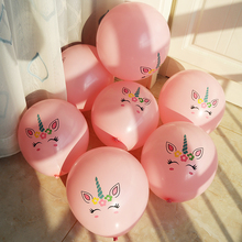 10pcs/lot Unicorn balloon theme party Decoration Girl Birthday Party Supplies Childrens Day Gift Cute Cartoon Balloon